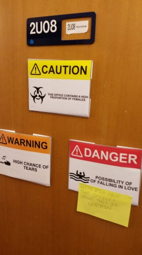 Tim Hunt's comments about girls in labs prompted some changes to door signs in Meteorology